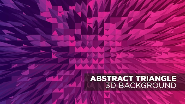 Abstract triangle 3d pattern background