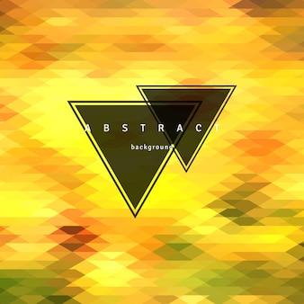 抽象的な三角形の背景、モザイクデザイン要素。ベクトルil