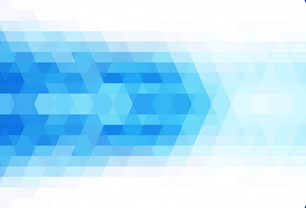 Abstract triangle blue background vector