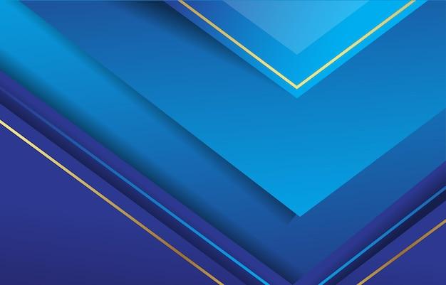 抽象的な三角形の青いグラデーションの背景