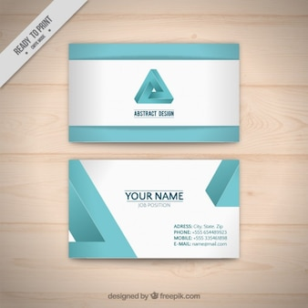 Abstract triangle business card