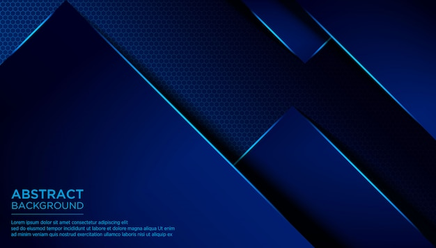 Abstract triangle dark blue background template