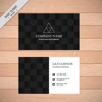 抽象的な三角形ダーク会社カード