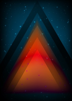 Abstract triangle design light effect