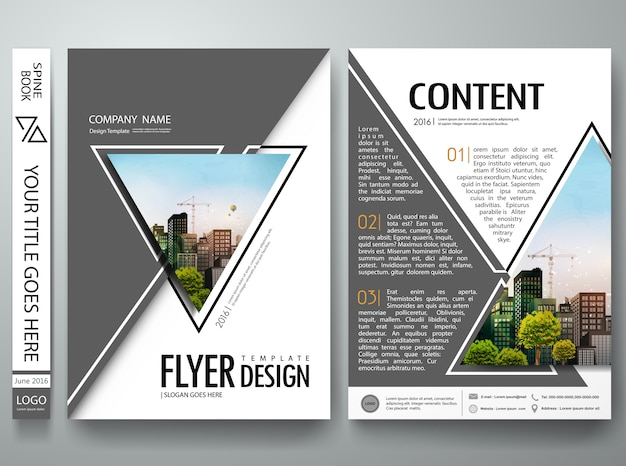 Abstract triangle design template