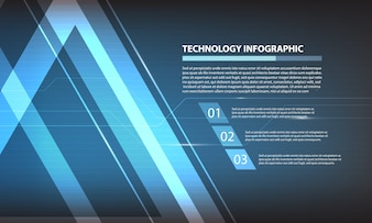 Abstract triangle digital technology infographic