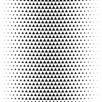 Abstract triangle gradient halftone background