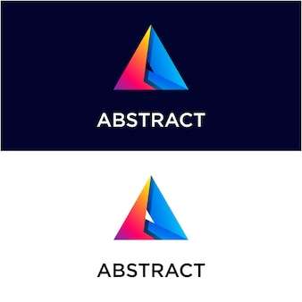 Abstract triangle gradient logo template