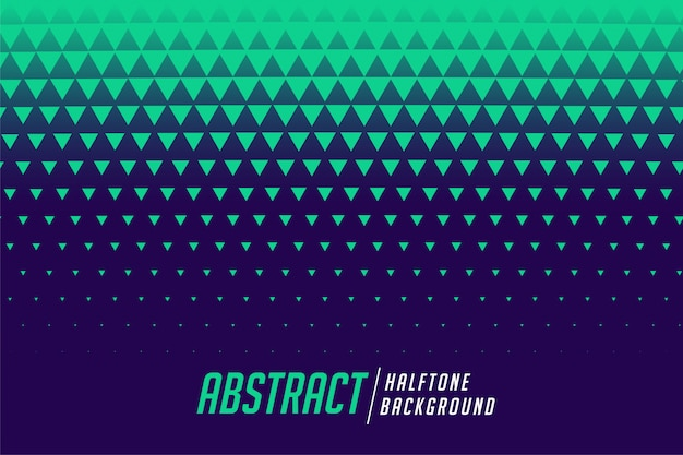 Abstract triangle halftone style pattern background