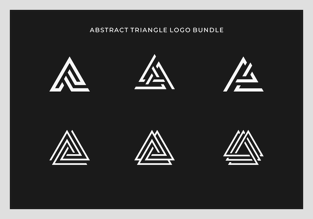 Abstract triangle logo design in bundle vector