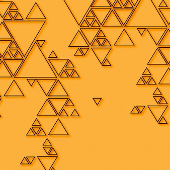 Abstract triangle on orange background