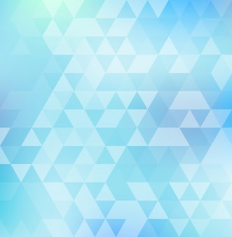 Abstract triangle pattern on blue color background and texture.