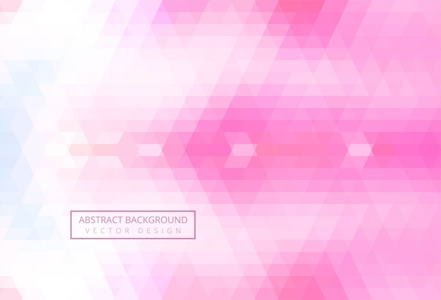 Abstract triangle pattern pink background