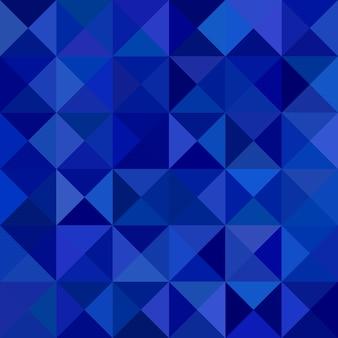 Абстрактный треугольный фон пирамиды - векторный дизайн мозаики из треугольников в синих тонах