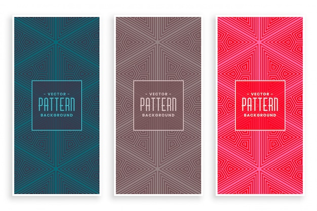 Abstract triangle repeat pattern in line style