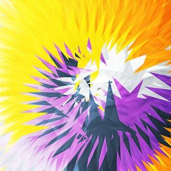 抽象的な三角形の背景、カラフルなイラスト