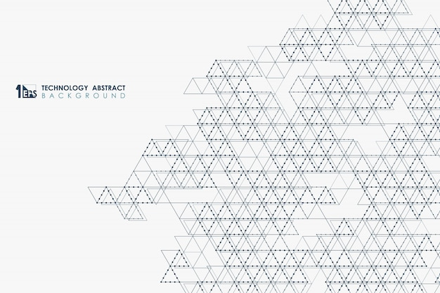 Abstract triangle technology pattern background
