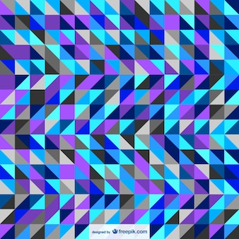 Abstract triangles background in blue tones