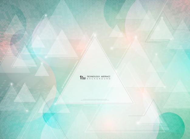 Abstract triangles decorative background.