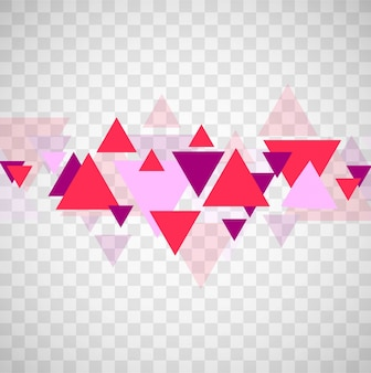 Abstract triangles forms