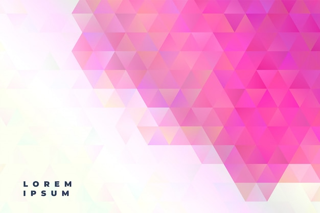 Abstract triangles presentation banner