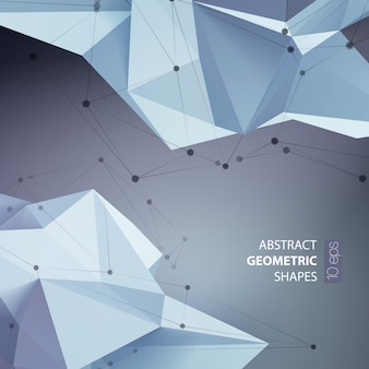 Abstract triangles space low poly.