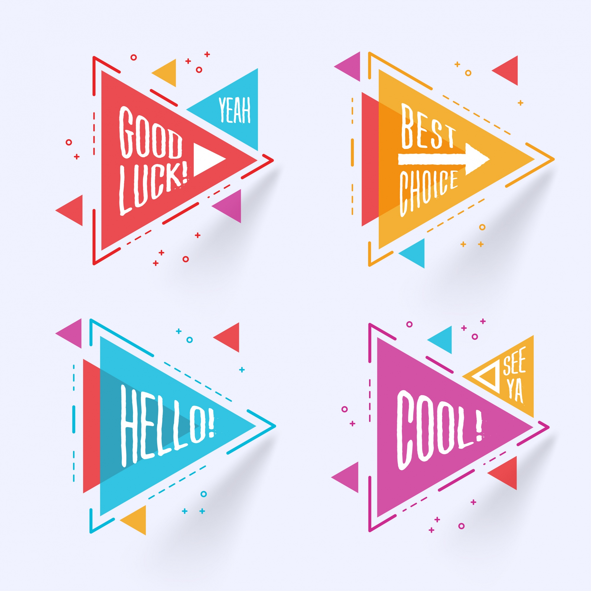 Abstract triangular labels