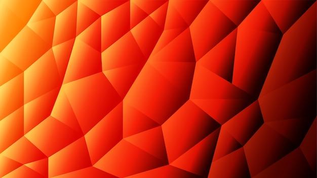 Абстрактный триангулированный фон оранжевый фон красный фон