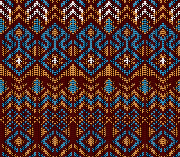 Abstract tribal aztec seamless pattern
