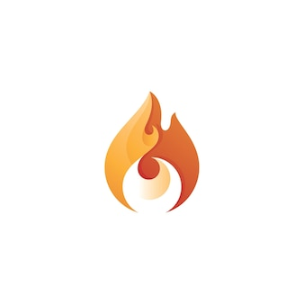 Abstract tribal fire logo