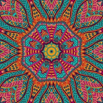 抽象的な部族ヴィンテージカラフルな民族のお祭りのシームレスなパターン装飾