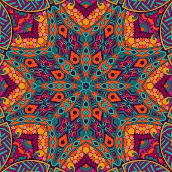 抽象的な部族ヴィンテージカラフルな民族のシームレスなパターン装飾
