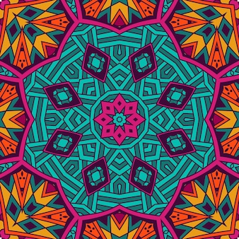 Abstract tribal vintage ethnic seamless pattern ornamental. bright festive mosaic