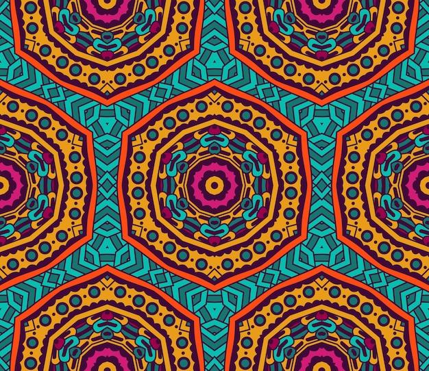 추상 부족 빈티지 민족 완벽 한 패턴 장식입니다. 축제 화려한 배경 디자인