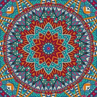 装飾的な抽象的な部族のヴィンテージ民族のシームレスなパターン