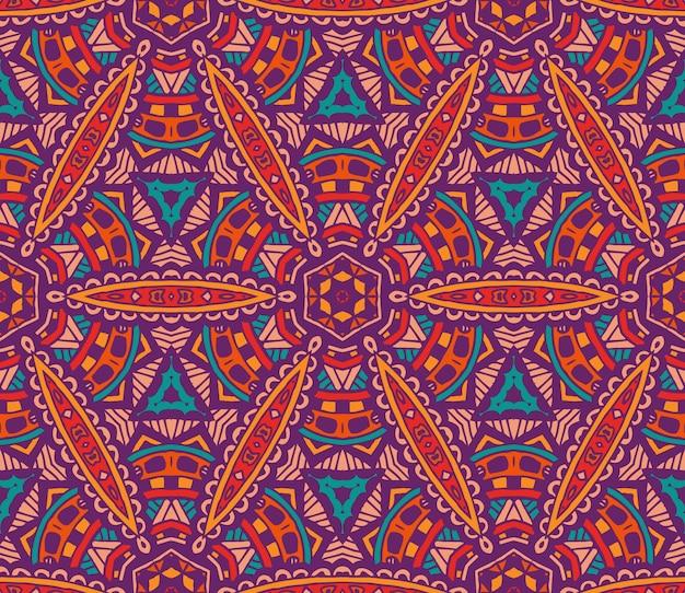 추상 부족 빈티지 민족 원활한 패턴 장식
