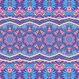 抽象部族ヴィンテージインドテキスタイルエスニックシームレスパターン装飾