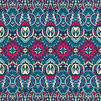 Abstract tribal vintage indian textile ethnic seamless pattern ornamental.