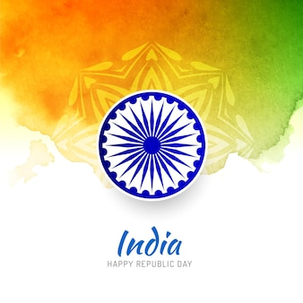 Abstract tricolor indian flag background