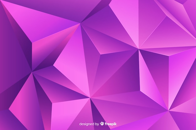 Abstract tridimensional geometric shape background