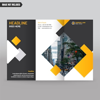 Abstract trifold brochure design business template