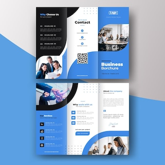 Abstract trifold brochure template  concept