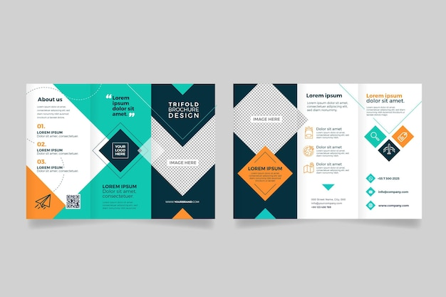Abstract trifold brochure template pack