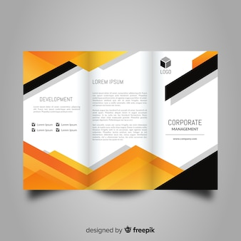 Abstract trifold brochure template