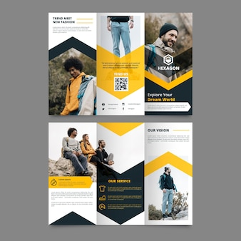Abstract trifold brochure with image