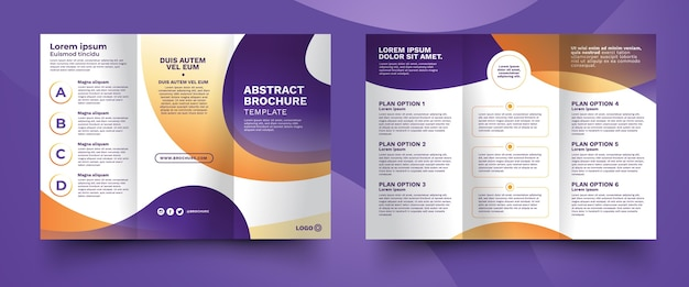 Abstract trifold brochure