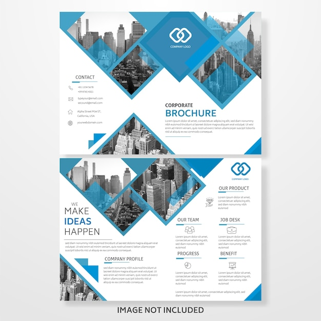 Abstract trifold business brochure template