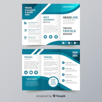 Abstract trifold flyer template