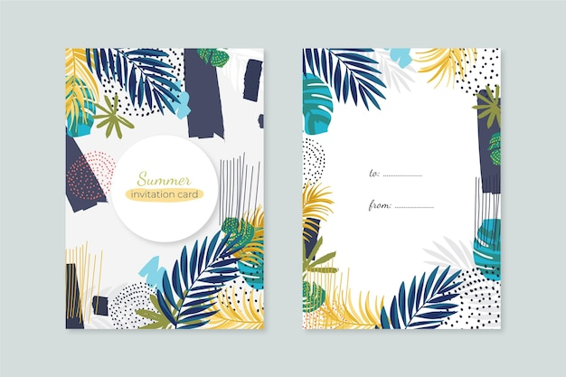 Abstract tropical cards concept