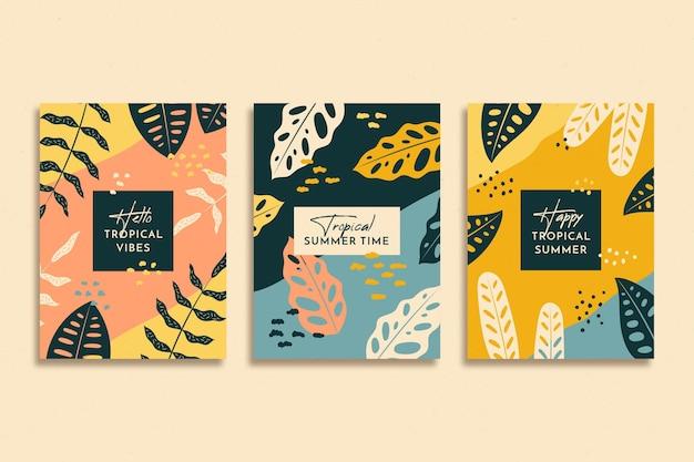 抽象的な熱帯カード